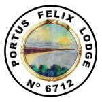 Portus-Felix logo, a picture of Filey brig surroounded by the ladge name and number